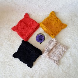 Simple Design Knitted Kids Outdoor Warm Hat
