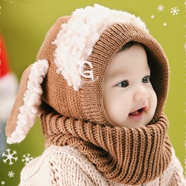 Cute Dog Shape 5 Color Warm Baby Acrylic Fiber Hat