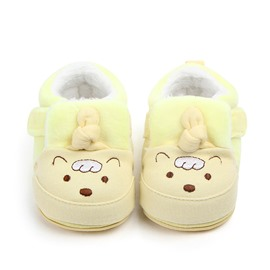 Yellow Lamb Pattern Baby Warm Cotton Anti-Slip First Walkers Shoes