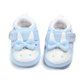 Blue Cute Rabbit Pattern Baby Warm Cotton Anti-Slip First Walkers Shoes