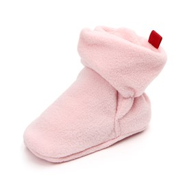 Pink/Coffee Infant Unisex Baby Warm Cotton Anti-Slip First Walkers Shoes