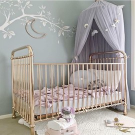 Dreamlike Purple Princess Style Chiffon FabricDecor Kids Round Canopy