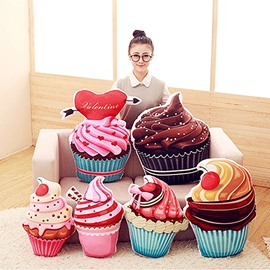 Creative Cute Cupcake Shape Soft and Breathable Plush Baby Toy