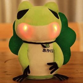 Electric Travel Frog Nodding and Singing Glowing Plush Animal Shaped Toy