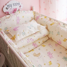 Fresh Look Bears and Socks Pattern 10-Piece Crib Bedding Set