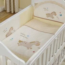 Bouncy Little Horse Pattern 10-Piece Crib Bedding Sets