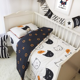 Cats and Circles Printed 3-Piece Crib Bedding Sets