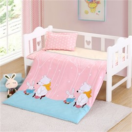 Multicolor For Choice Cartoon Pattern 6-Piece Cotton Baby Crib Bedding Set