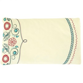 Super Soft Buckwheat Hull Filling Flowers Painting Baby Pillow