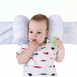 Natural Bamboo Charcoal Baby Sleeping Pillow Prevent Flat Head