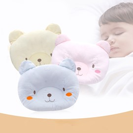 Cute and Comfy Bear Shape Prevent Flat Head Infant Pillow