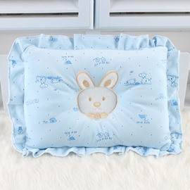 Prevent Flat Head Rabbit Pattern Cotton Pure Color Baby Pillow