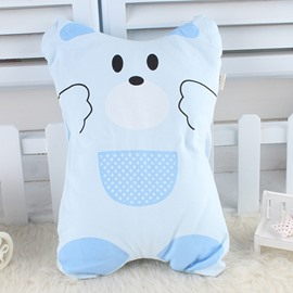 Lovely Bear with Pocket Print Baby Pillow