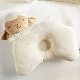 Adorable Sheep Shape Cotton Baby Pillow Prevent Flat Head