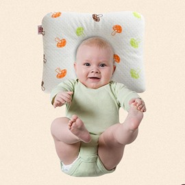 Cute Simple Design Buckwheat Inner Prevent Flat Head Baby Pillow