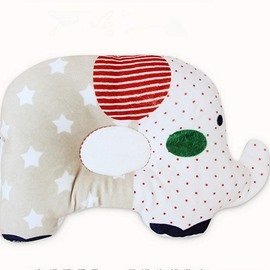 Pretty Elephant Design Three Colors Option Prevent Flat Head Baby Pillow