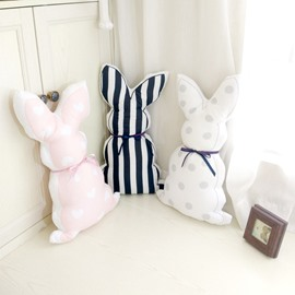 Rabbit Back Shape Plush Baby Throw Pillow