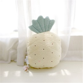 Pineapple Shape Plush Yellow Baby Throw Pillow