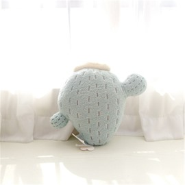 Cactus Shape Plush Light Blue Baby Throw Pillow