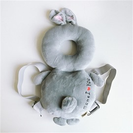 Rabbit Buckle PP Cotton 1-Piece Gray Anti-Tumbling Toddlers Pillow