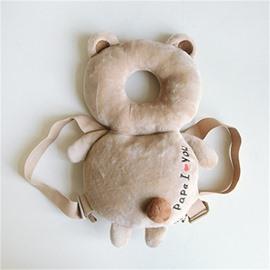 Bear Buckle PP Cotton 1-Piece Khaki Anti-Tumbling Toddlers Pillow