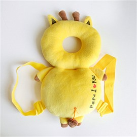 Deer Buckle PP Cotton 1-Piece Yellow Anti-Tumbling Best Toddler Pillow