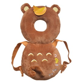 Bear Buckle PP Cotton 1-Piece Brown Anti-Tumbling Best Toddler Pillow