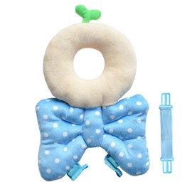 Bowknot and Grass Buckle PP Cotton 1-Piece Blue Best Toddlers Pillow