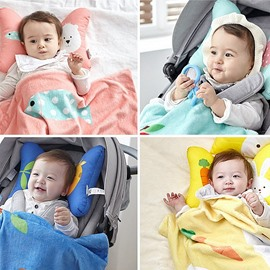 Animal Printed Bowknot Shaped Polyester Infant Pillow