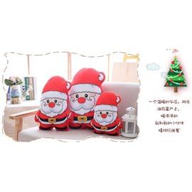 Santa Claus Shaped Red Plush Decorative Throw Pillows
