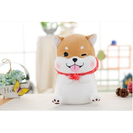 Shiba Inu Shaped Soft Plush Cartoon Style Throw Pillow