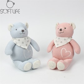 Cute Bear Two Color For Choice Soft Plush Baby Sleep/comforting Pillow Toy