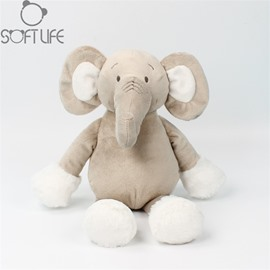 Long Nose Elephant Two Color Soft Plush Baby Sleep/comforting Pillow Toy