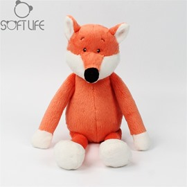 Red Fox Soft Plush Baby Sleep/comforting Pillow Toy