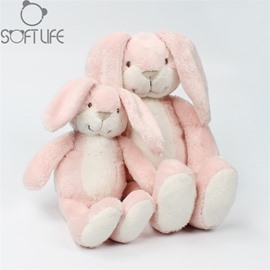 Lovely long-Eared Rabbit Pink Soft Plush Baby Sleep/comforting Pillow Toy