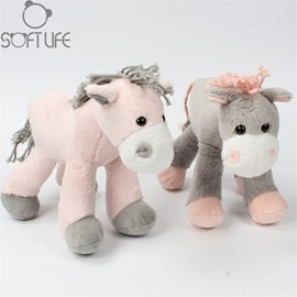 Lovely Horse Two Color For Choice Soft Plush Baby Sleep/comforting Pillow Toy