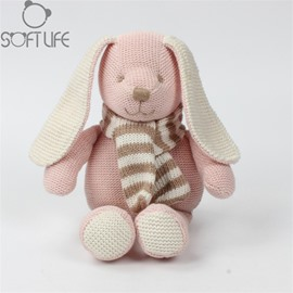 Pink Cute Rabbit Soft Plush Baby Sleep/comforting Pillow Toy