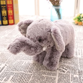 Cute Emulational Elephant Shape Soft and Breathable Plush Baby Toy