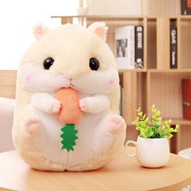 Beige Cute Creative Hamster Soft and Breathable Plush Baby Toy And Blanket