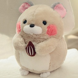 Grey Cute Creative Hamster Soft and Breathable Plush Baby Toy