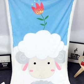 Super Cute Sheep Pattern Comfortable Baby Blanket