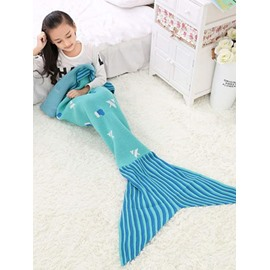 Cute Christmas Trees Pattern Mermaid Tail Design Blanket