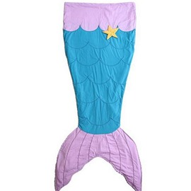 Lovely Starfish Pattern Mermaid Tail Design Blanket