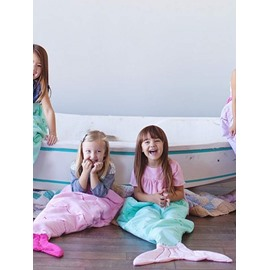 Soft Soft Multicolor Option Mermaid Tail Design Blanket