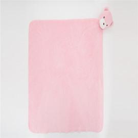 Cute Animal Style Crystal Velvet Fabric Baby Square Blanket
