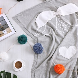 Cartoon Pattern Cotton Material Spring Fall Season Bedding Blanket