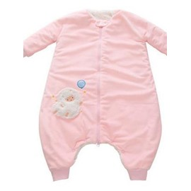 Beautiful High Quality Pink Short Plush Baby Sleeping Bag