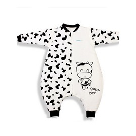 High Quality Bamboo Fiber Lovely Cow Print Baby Sleeping Bags