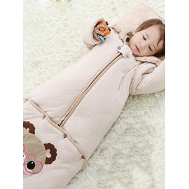 Bright Happy Bear Organic Cotton Baby Sleeping Bag