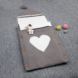 Simple Style Heart Shape Cotton 1-Piece Baby Sleeping Bag
